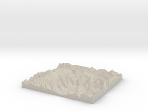 Model of Table Mountain in Sandstone
