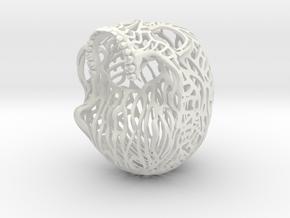 Skull Filagree - Liberty 6.5cm - Top in White Natural Versatile Plastic