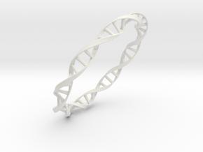 DNA Moebius bracelet (large) in White Natural Versatile Plastic