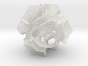 CD triply periodic minimal surface, coarse mesh in White Natural Versatile Plastic