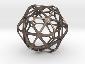 GridBall  in Polished Bronzed Silver Steel