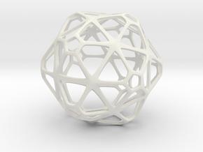 GridBall  in White Natural Versatile Plastic