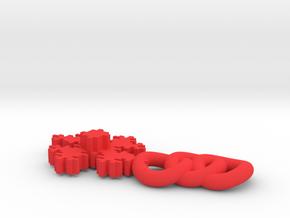 Fractal Pendant in Red Processed Versatile Plastic
