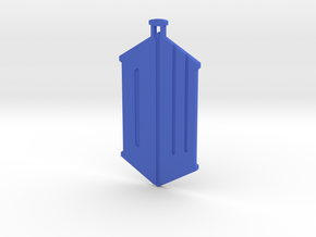 Dr Who Logo Pendant in Blue Processed Versatile Plastic
