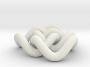 Borromean 6cm, thicker in White Natural Versatile Plastic