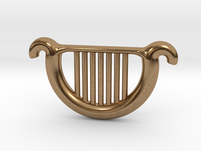 Goddess's Harp in Natural Brass