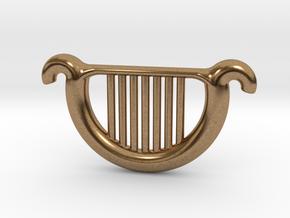 Goddess's Harp in Natural Brass