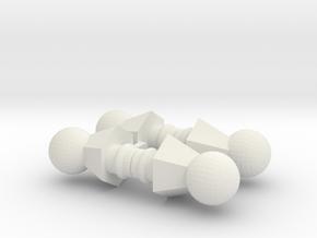 Action Figure Ball Necks in White Strong & Flexible