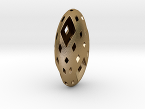 Menger Pebble in Polished Gold Steel