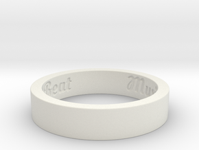 My Awesome Ring Design Ring Size 11 in White Natural Versatile Plastic