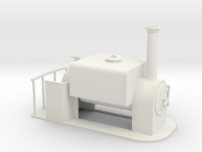 1:32 15 inch gauge square saddle tank in White Natural Versatile Plastic