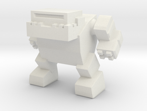 Bulldog Robot in White Natural Versatile Plastic