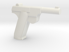High Power HDM Pistol in White Natural Versatile Plastic