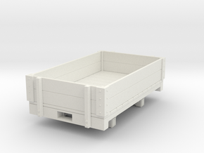 Gn15 low open wagon in White Strong & Flexible