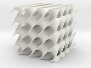 D periodic minimal surface in White Natural Versatile Plastic