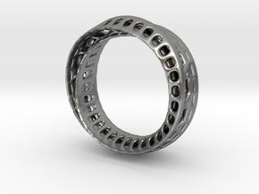 TwistedBond ring - 16mm in Raw Silver