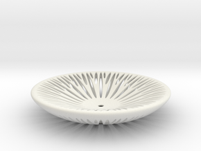Segmenta ceramic bowl in White Natural Versatile Plastic