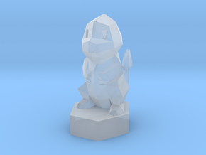 Low-poly Charmander On Stand in Smooth Fine Detail Plastic