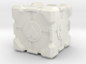 Companion Cube in White Strong & Flexible