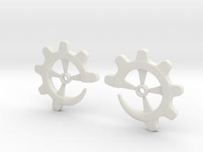 Gear-ring 4g in White Natural Versatile Plastic