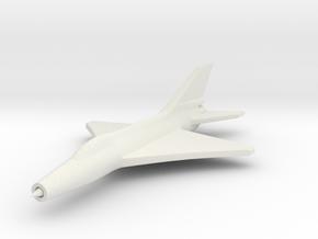 1/285 (6mm) J-7 Shenyang Fighter in White Natural Versatile Plastic
