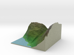 Terrafab generated model Tue Dec 10 2013 22:28:45  in Full Color Sandstone