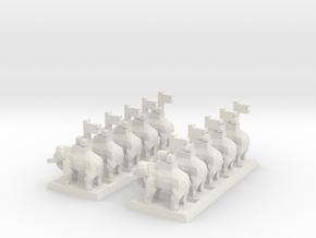 2mm Elephant (x10) in White Natural Versatile Plastic