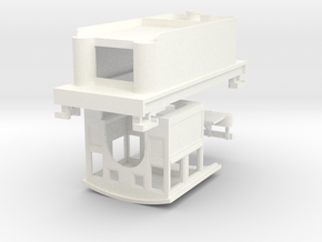 HOn30 Loco Kit for 2-8-0 DCC (high tender) in White Processed Versatile Plastic