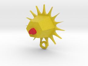 sun heart pendant in Full Color Sandstone