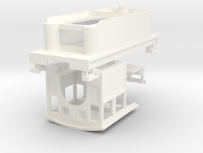 HOn30 Loco Kit for 2-8-0 DCC (low tender) in White Processed Versatile Plastic