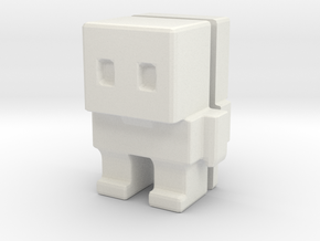 Block Bot Split in White Natural Versatile Plastic