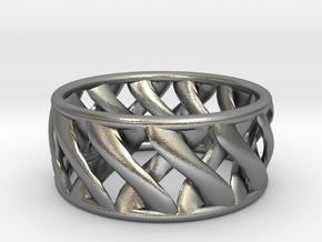 Link Ring in Natural Silver