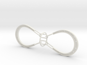 Horse Shoes and Ring puzzle (large) in White Natural Versatile Plastic
