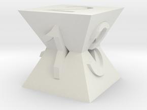 Pyramid Die in White Natural Versatile Plastic
