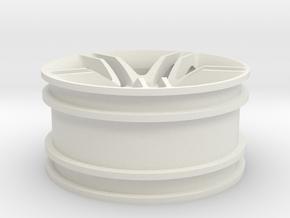 1:10 RC Car rim in White Natural Versatile Plastic