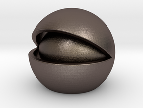 Nut in Polished Bronzed Silver Steel
