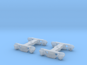 Roller Bearing Trucks for 52' Mill Gondola TT scal in Smooth Fine Detail Plastic