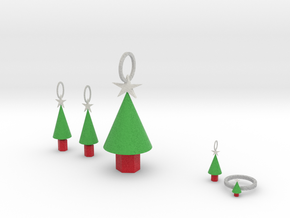 Xmas Tree Jewelry Set in Full Color Sandstone