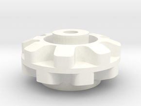 Pololu  8 Cog Wheel For Axle in White Processed Versatile Plastic