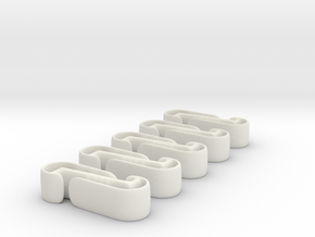 Active Clip (5 pack) in White Natural Versatile Plastic