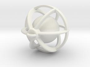 Bell in White Natural Versatile Plastic