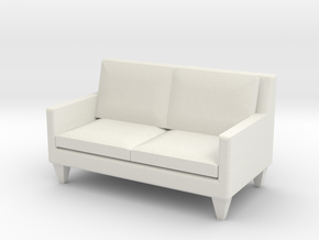 1:24 Contemporary Loveseat in White Natural Versatile Plastic