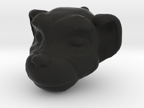 monkey pendant in Black Natural Versatile Plastic
