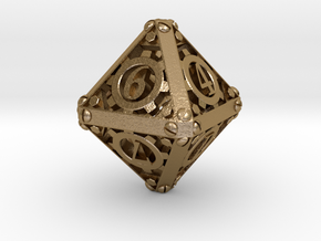 Steampunk d8 in Polished Gold Steel