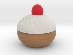 sitting Xmas Pudding Ornament in Full Color Sandstone