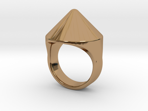 Awesome Teaser Ring in Polished Brass