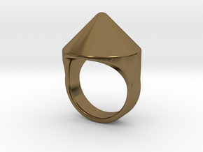 Awesome Teaser Ring in Polished Bronze