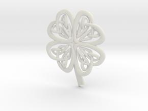 Celtic Shamrock in White Natural Versatile Plastic
