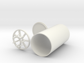 Graflex battery/speaker/soundboard case in White Natural Versatile Plastic