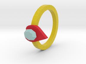 diamond heart ring in Full Color Sandstone
